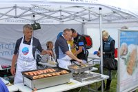 the sea food barbecue that Scottish Sea Farms did for the Mod